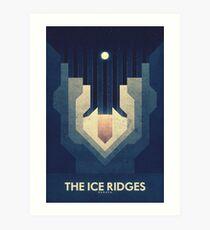 Jupiter | Moon | Europa | Ice Ridges | Space Art  Art Print