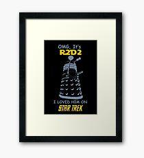 dalek doctor who - Nerd RAGE Framed Print