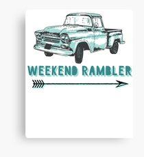 Weekend Rambler Old Truck Arrow Canvas Print