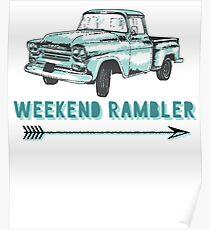 Weekend Rambler Old Truck Arrow Poster