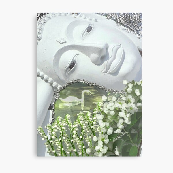 In the Garden - Quan Yin Lilies of the Valley Metal Print