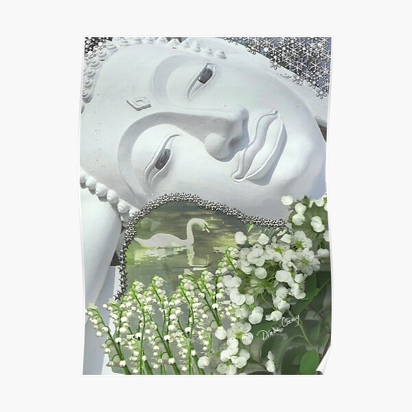 In the Garden - Quan Yin Lilies of the Valley Poster