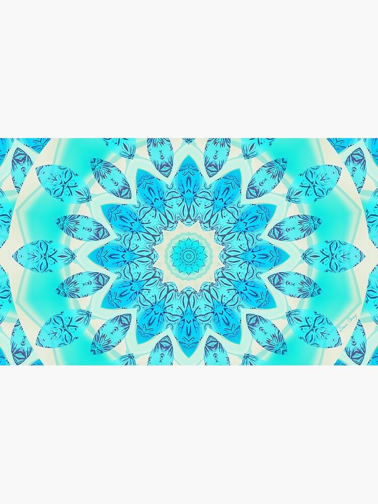 Blue Ice Goddess, Aqua Cyan Star Mandala by dianeclancy