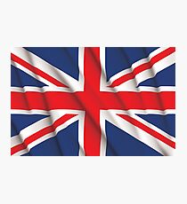 Fluttering Union Jack Photographic Print