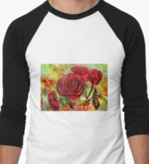 Watercolor painting of roses in the garden  T-Shirt