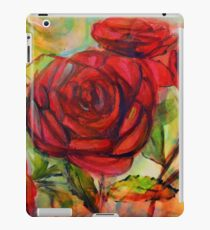 Watercolor painting of roses in the garden  iPad Case/Skin