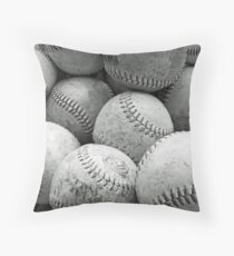 Vintage Baseballs in Schwarzweiss Dekokissen
