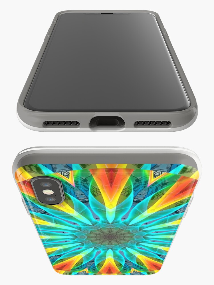 Alternate view of Aqua Gold Joy to the World Wild Flowers  iPhone Cases & Covers