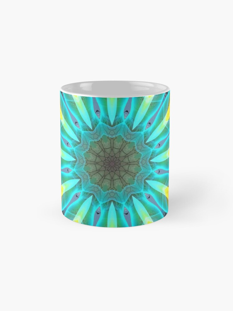 Alternate view of Aqua Gold Joy to the World Wild Flowers  Mugs