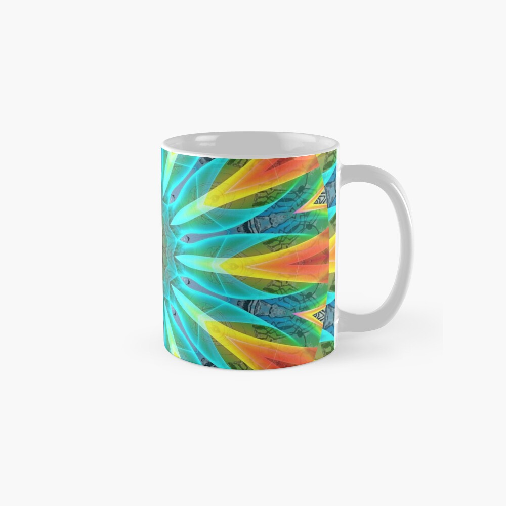 Aqua Gold Joy to the World Wild Flowers  Mugs