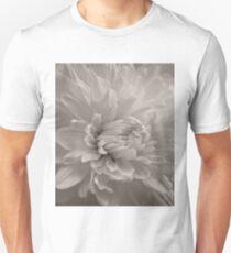 Monochrome Chrysanthemum Close-up T-Shirt