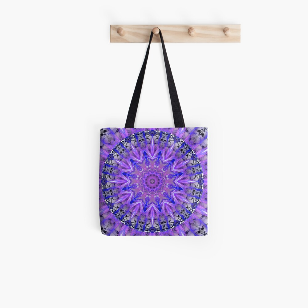 Abstract Plum Ice Crystal Palace Lattice Lace  Tote Bag