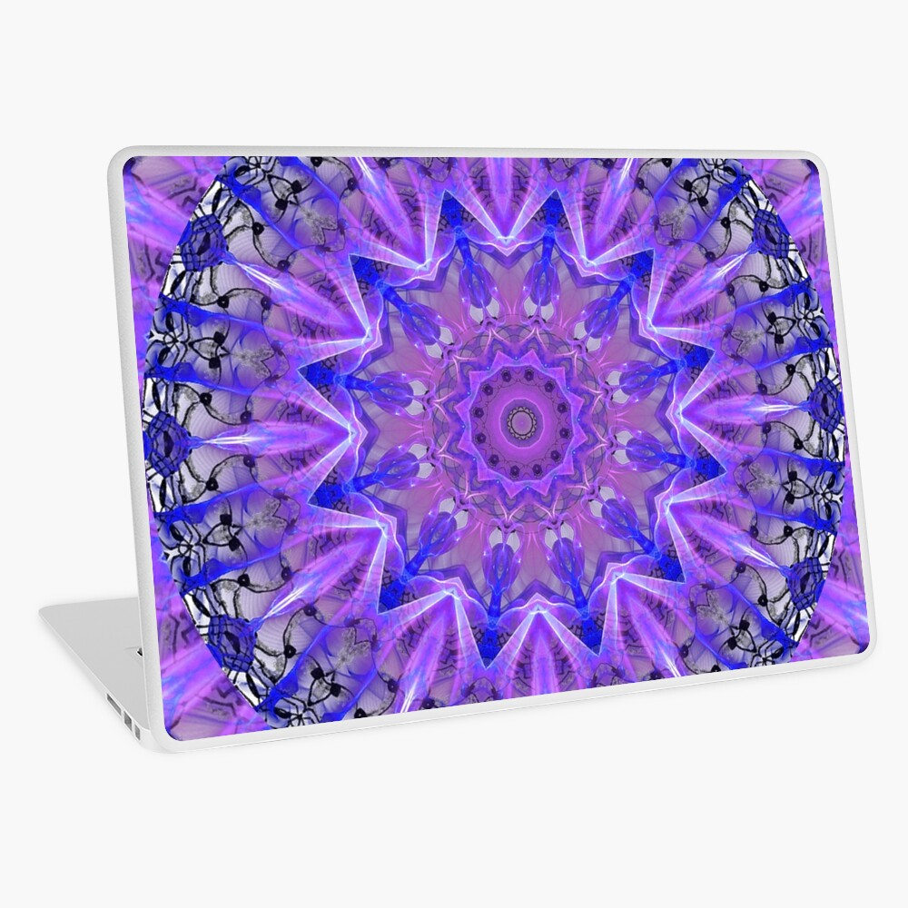 Abstract Plum Ice Crystal Palace Lattice Lace  Laptop Skin