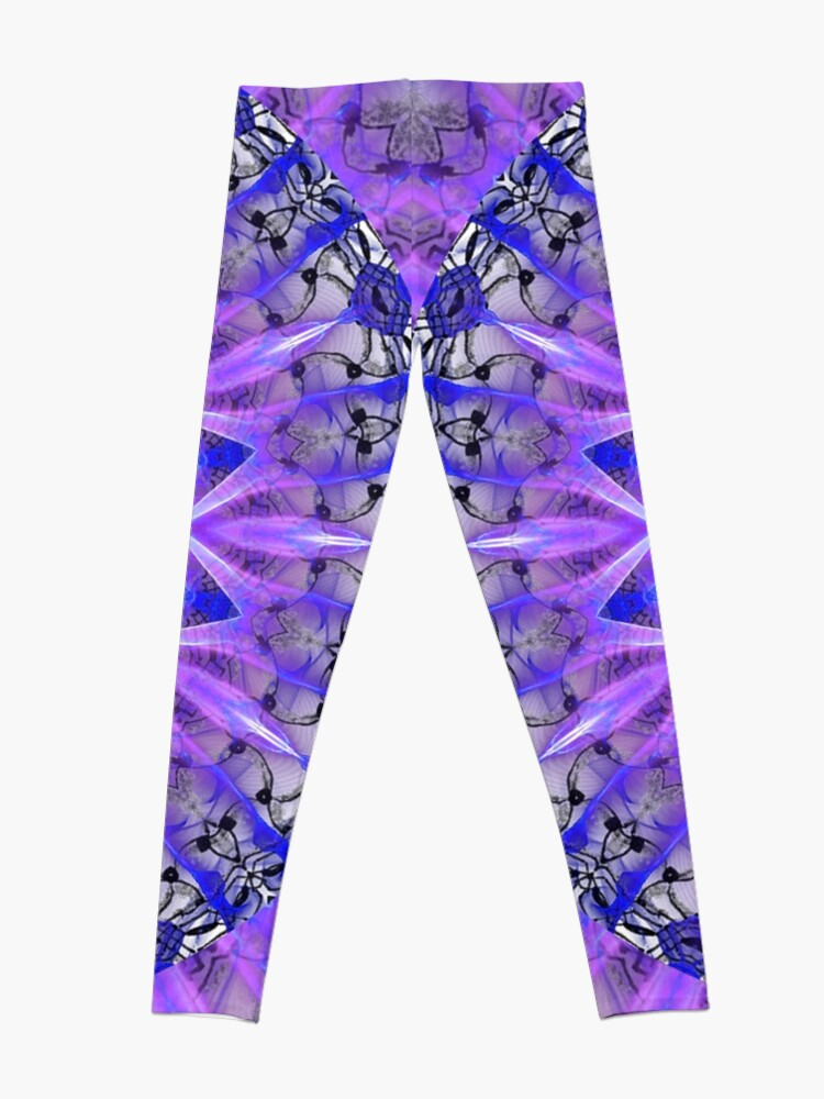 Alternate view of Abstract Plum Ice Crystal Palace Lattice Lace  Leggings