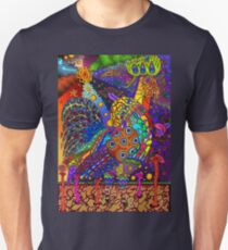Psychedelic Trippy Rooster Color T-Shirt