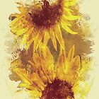 Peeping Sunflowers by Theresa Campbell