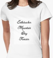 entlebucher mountain dog fancier Women's Fitted T-Shirt