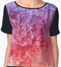 Watercolor Splashes On Paper Women's Chiffon Top