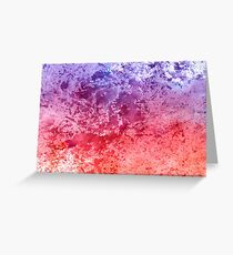 Watercolor Splashes On Paper Greeting Card