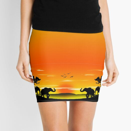A MEETING OF MINDS Mini Skirt