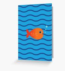 Cartoon fish illustration Greeting Card