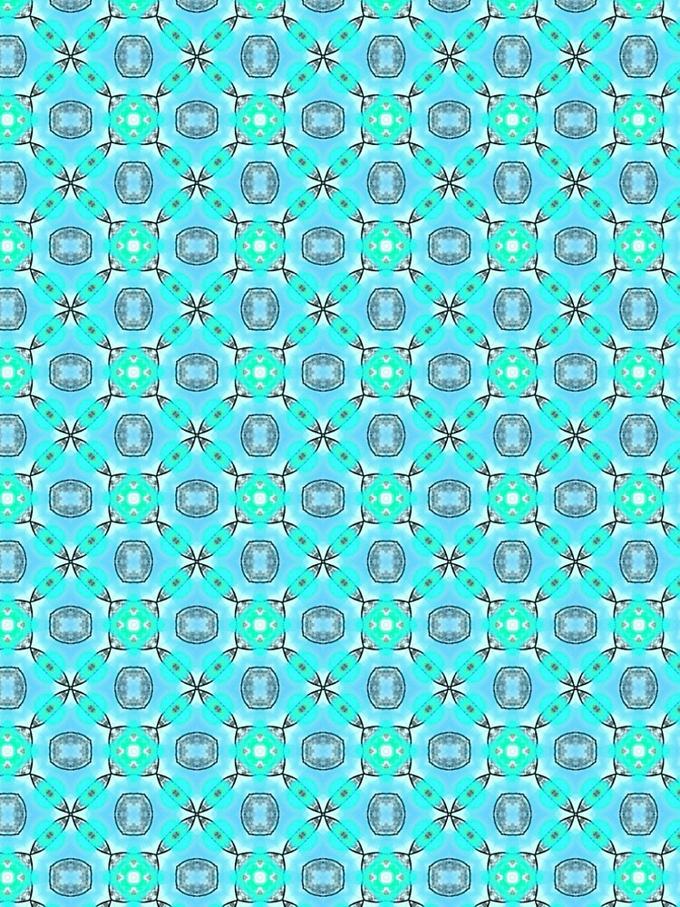Elegant Blue Teal Abstract Modern Foliage Leaves Pattern by dianeclancy