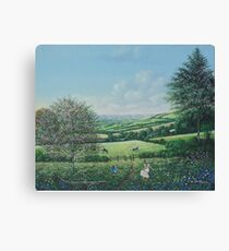 Playing in the Grass Canvas Print