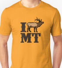 I Love Montana Elk T-Shirt