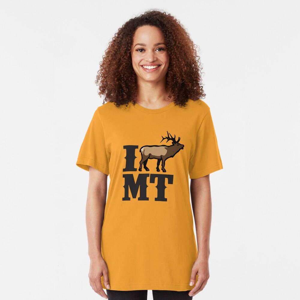 I Love Montana Elk Slim Fit T-Shirt