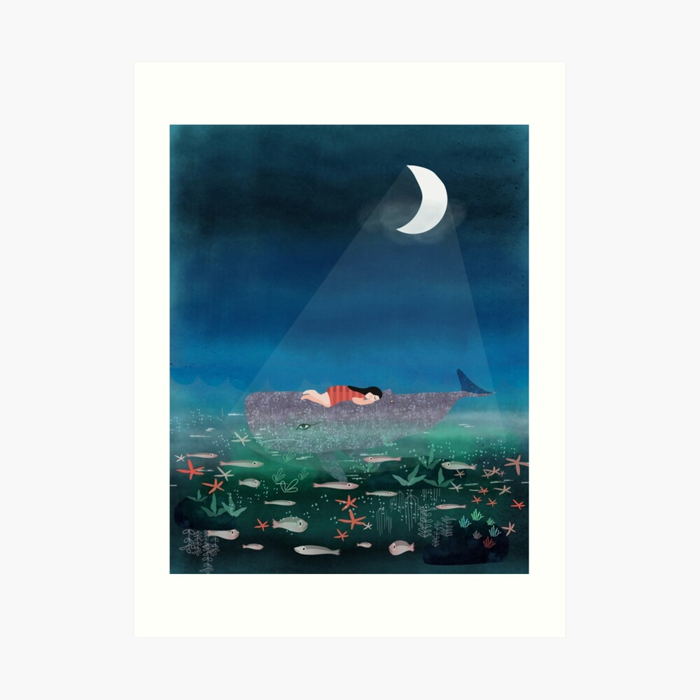 Dream With The Whale Art Print
