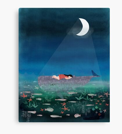 Dream With The Whale Canvas Print