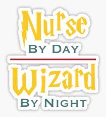 Nurse By Day Wizard By Night Sticker