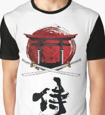 Samurai Katana Tori gate Kanji Graphic T-Shirt