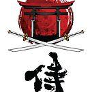 Samurai Katana Tori Tor Kanji von DCornel