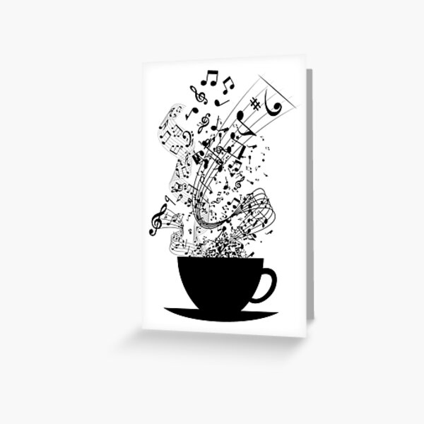 Cup of Music Greeting Card
