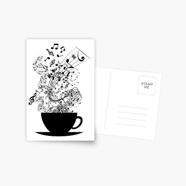 Cup of Music Postcard
