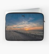 a cinematic moment at the Tel Aviv port Laptop Sleeve