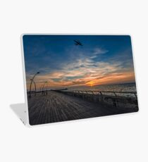 a cinematic moment at the Tel Aviv port Laptop Skin