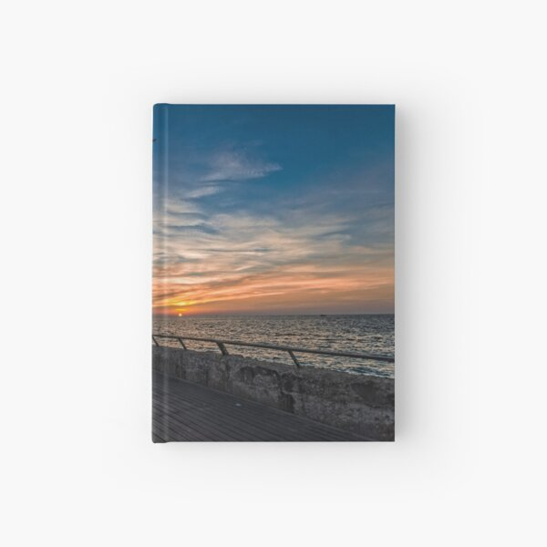 a cinematic moment at the Tel Aviv port Hardcover Journal