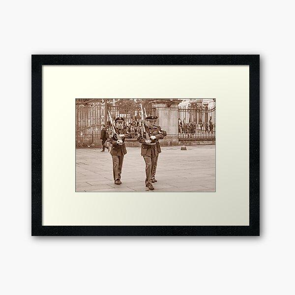 Castle Guard Praha Framed Art Print