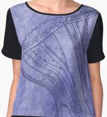 Purple Corset Women's Chiffon Top