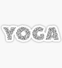 Yoga Typography Sticker