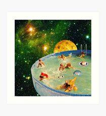 Screaming Children in Pool Art Print