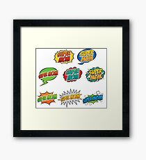 Super Mom Comic Framed Print