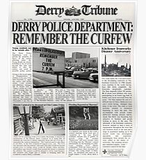 """IT"" - Derry Newspaper Poster"