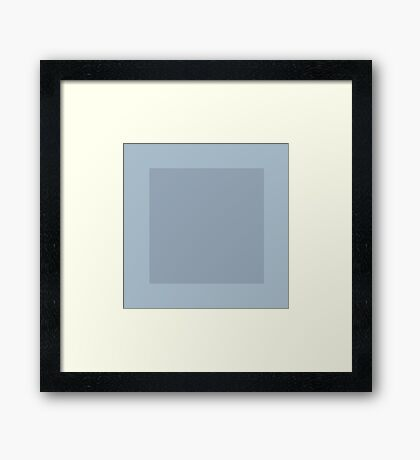 Blue Squares Framed Print