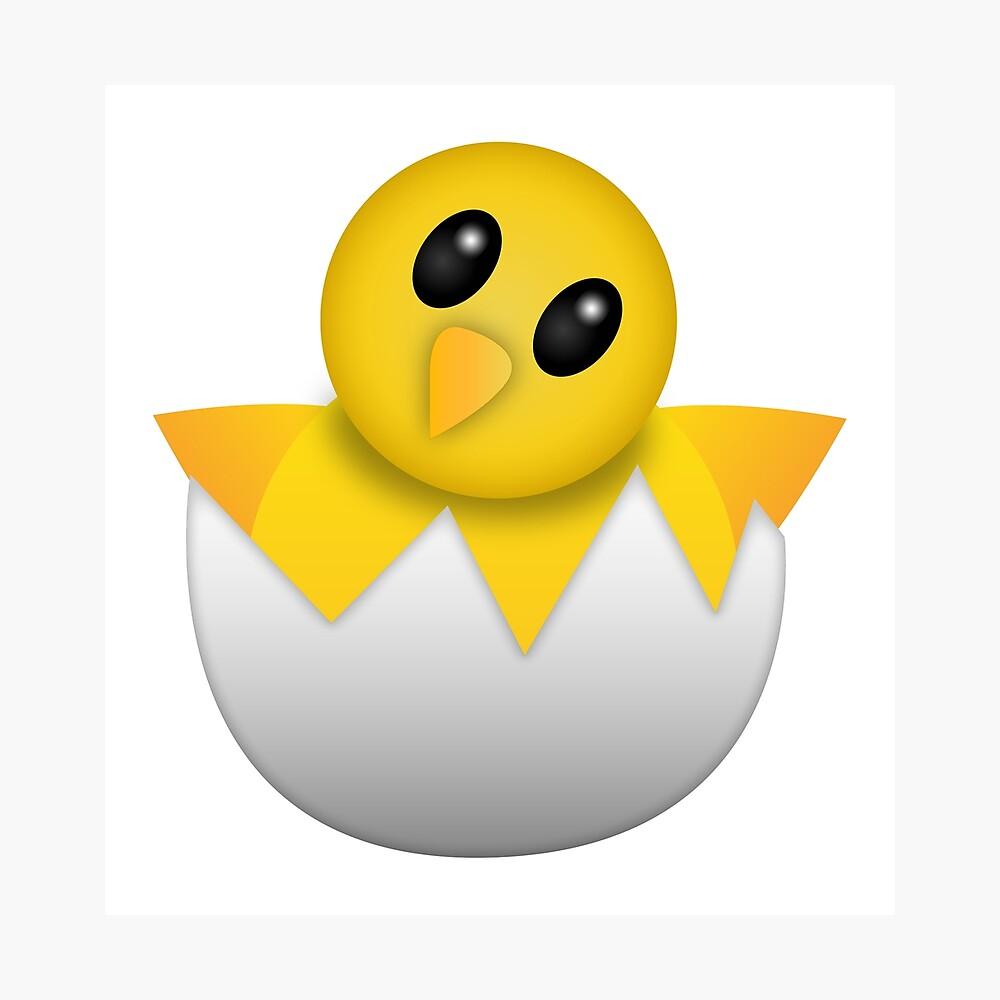 Brütendes Babyküken Emoji Fotodruck