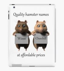 Quality hamster names iPad Case/Skin