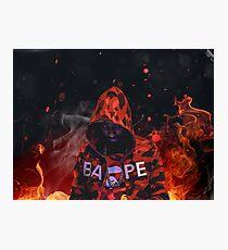 PnB Rock Bape Fire  Photographic Print