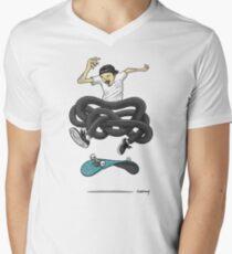 Gnarly Skater Men's V-Neck T-Shirt